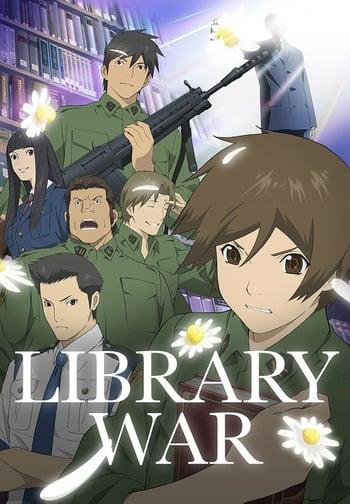 Toshokan Sensou Anime Cover