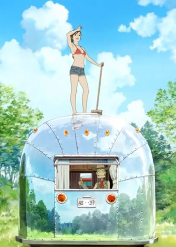Robot on the road anime