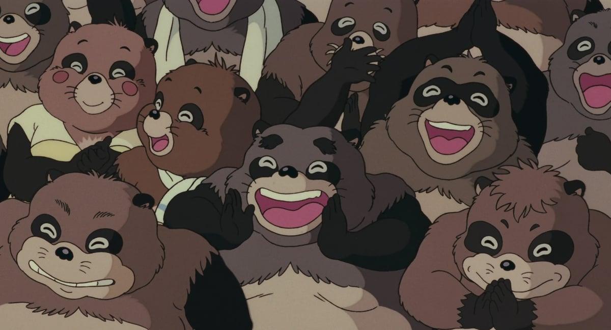 Pom Poko anime tanuki