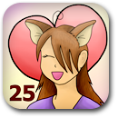 Marked 25 characters loved Badge Image