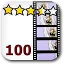Rated 100 Anime Badge Image