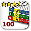 Rated 100 Manga Badge Image