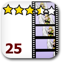 Rated 25 Anime Badge Image