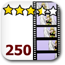 Rated 250 Anime Badge Image