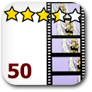 Rated 50 Anime Badge Image