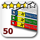 Rated 50 Manga Badge Image