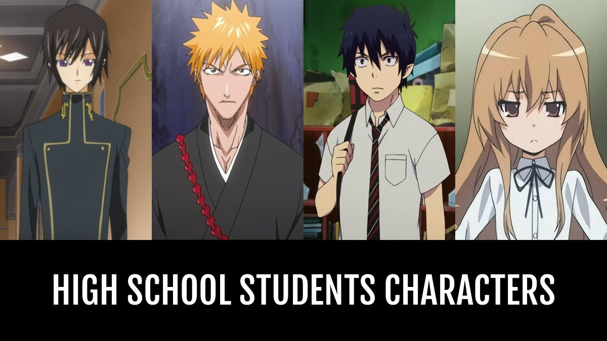 Best high school students characters anime planet