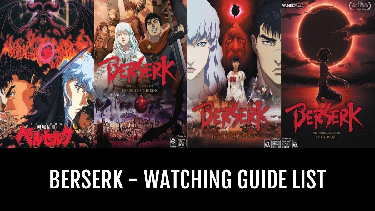 Berserk Anime Order
