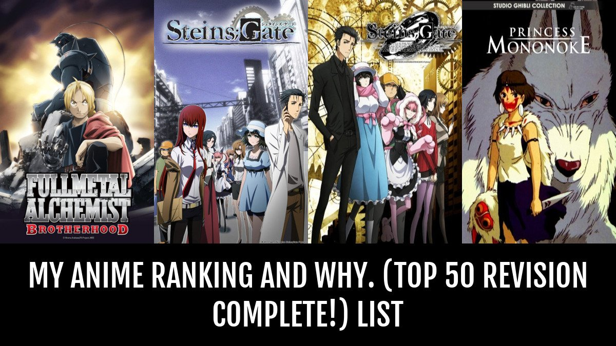 My anime ranking and why by sharpe anime planet