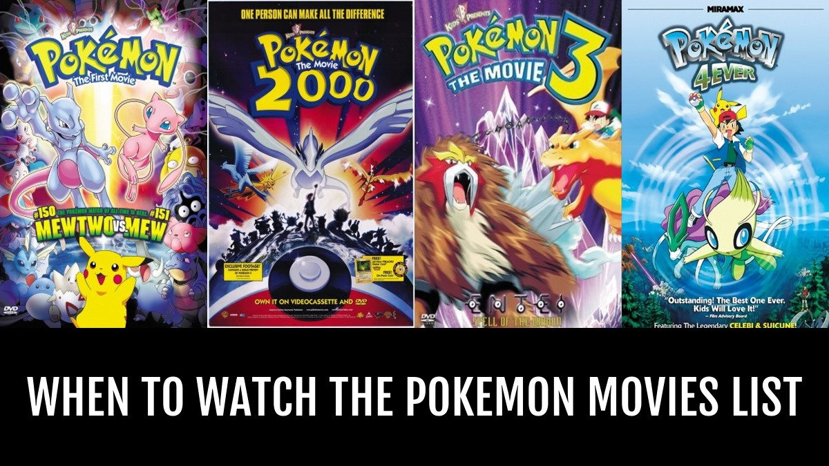Watch The Pokemon Movies